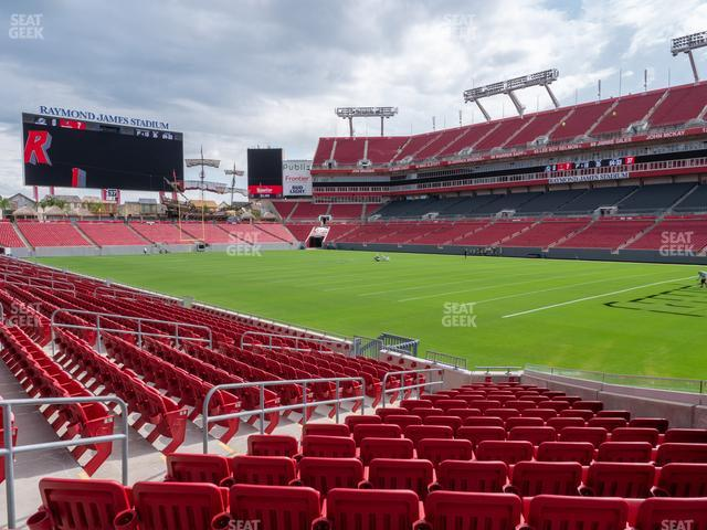 Raymond James Stadium Section 118 view