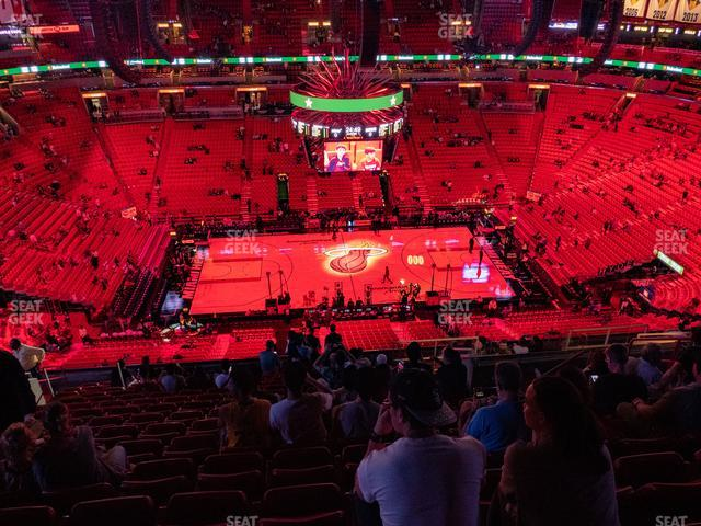 American Airlines Arena Section 325 view