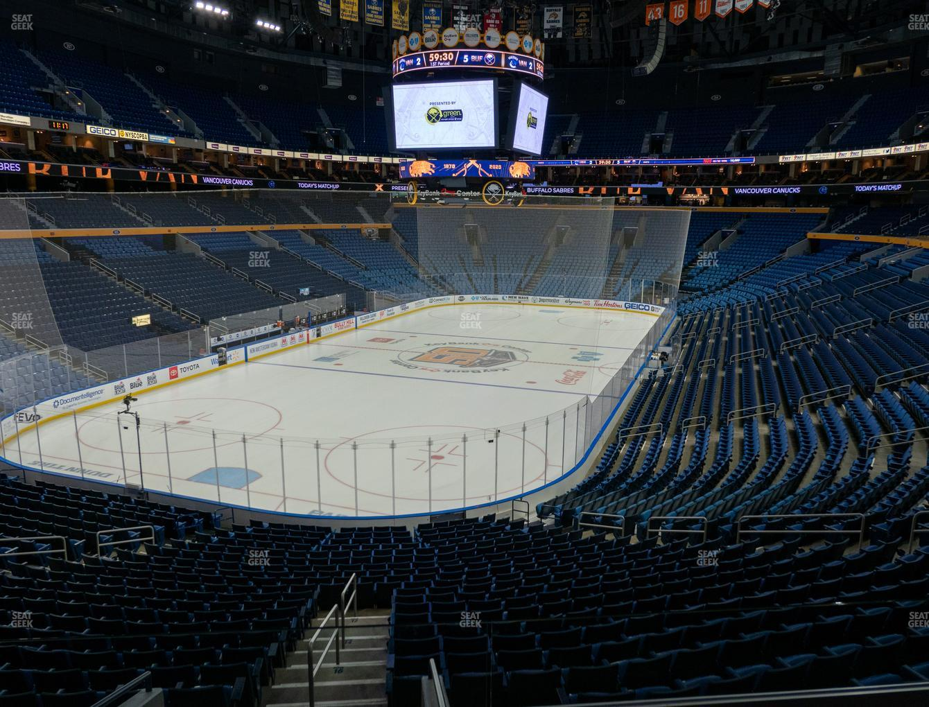 Buffalo Sabres at KeyBank Center Section 224 View