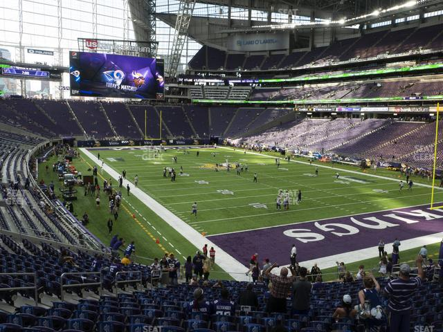 U.S. Bank Stadium Section 122 view