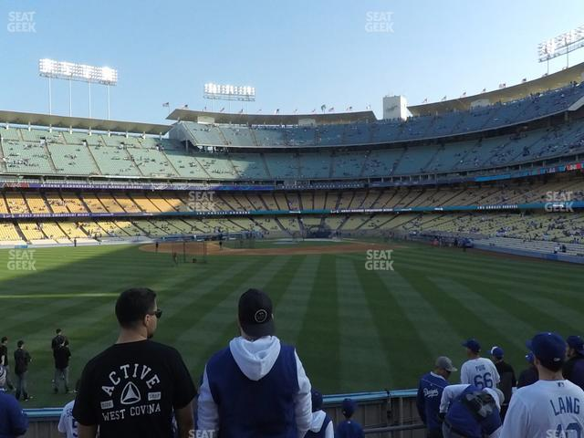 Dodger Stadium Left Field Pavilion 307 view