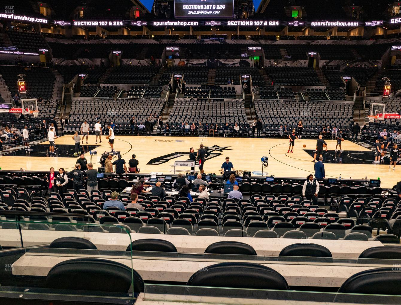 San Antonio Spurs at AT&T Center Box 12 View