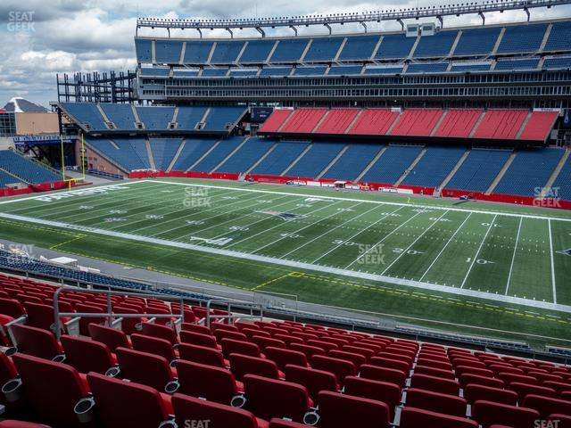 Gillette Stadium Section Club 28 view
