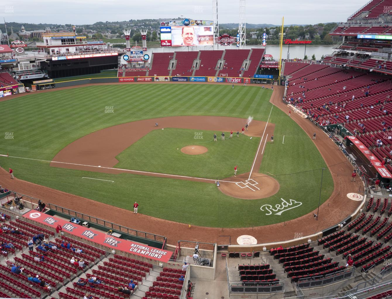 Cincinnati Reds at Great American Ball Park Section 420 View