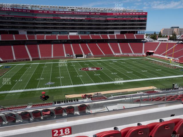 Levi's Stadium Section C 218 view