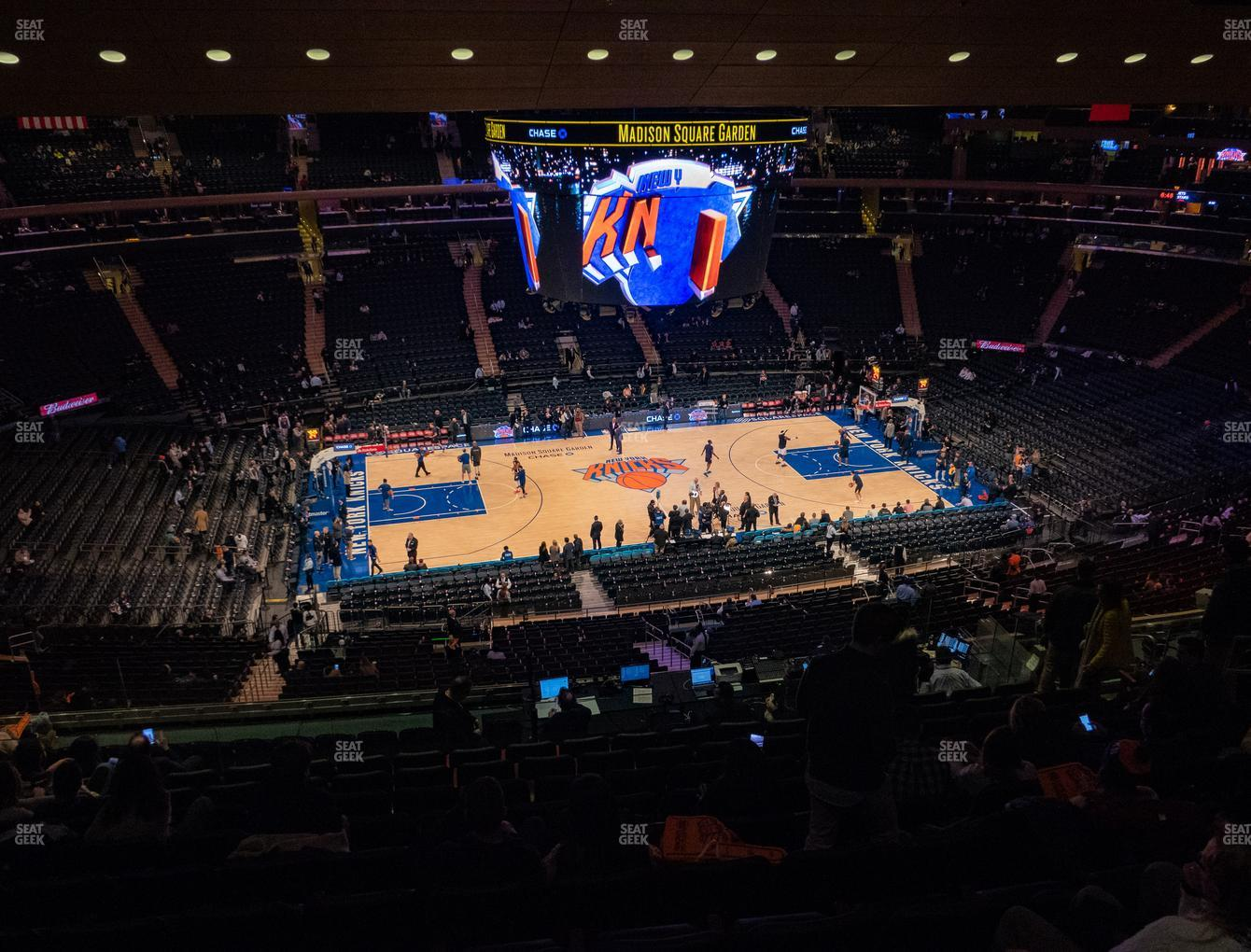 New York Knicks at Madison Square Garden Section 223 View