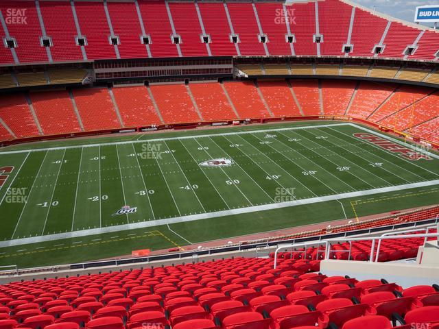 Arrowhead Stadium Section 303 view