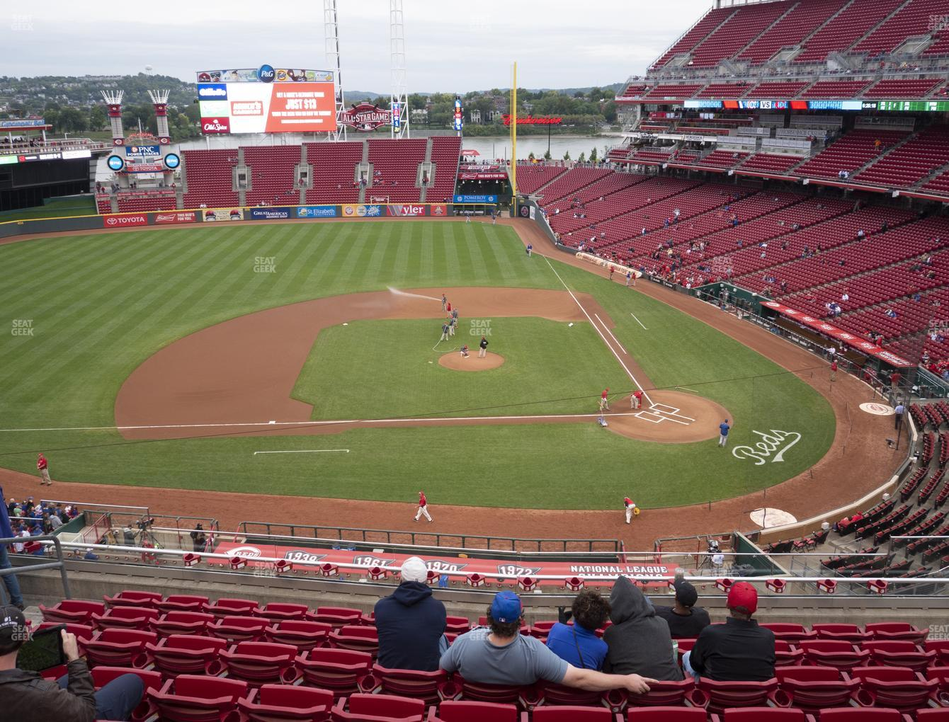 Cincinnati Reds at Great American Ball Park Section 418 View