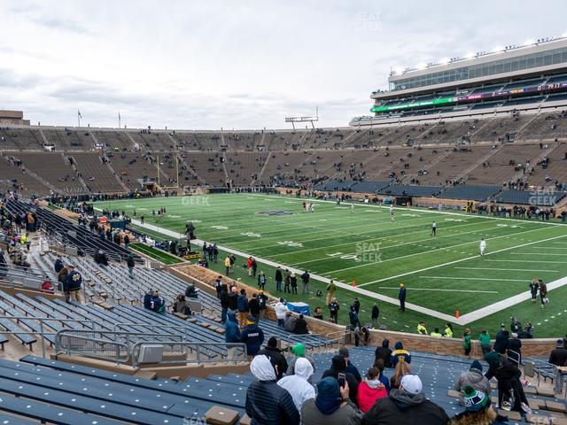 Notre Dame Stadium Section 23 view