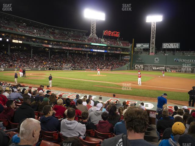 Fenway Park Loge Box 111 view