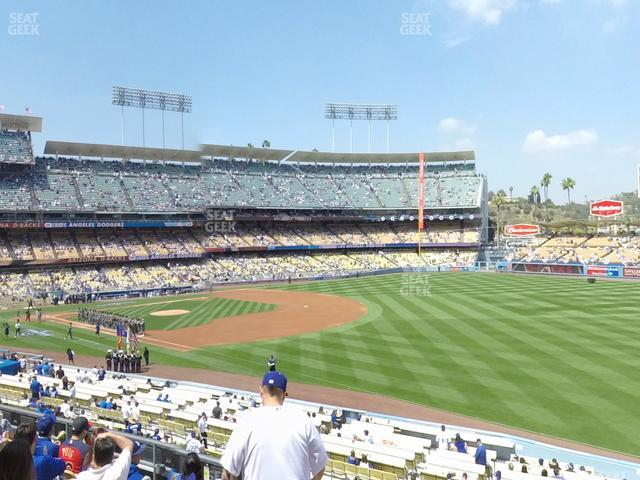 Dodger Stadium Loge Box 156 view