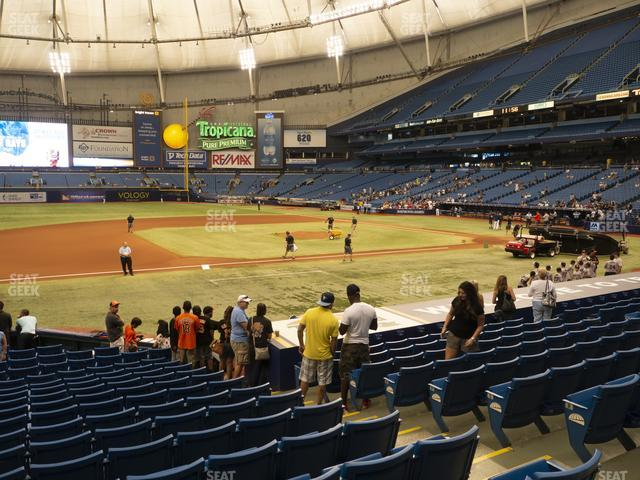 Tropicana Field Section 119 view