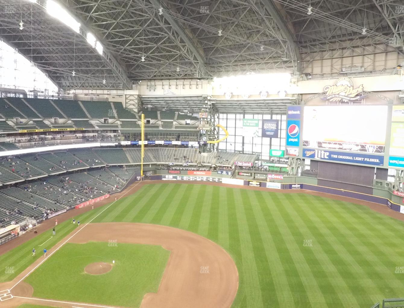 Milwaukee Brewers at Miller Park Section 414 View
