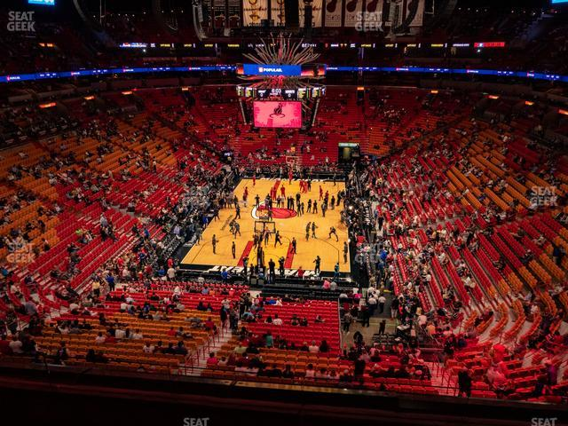 American Airlines Arena Section 332 view