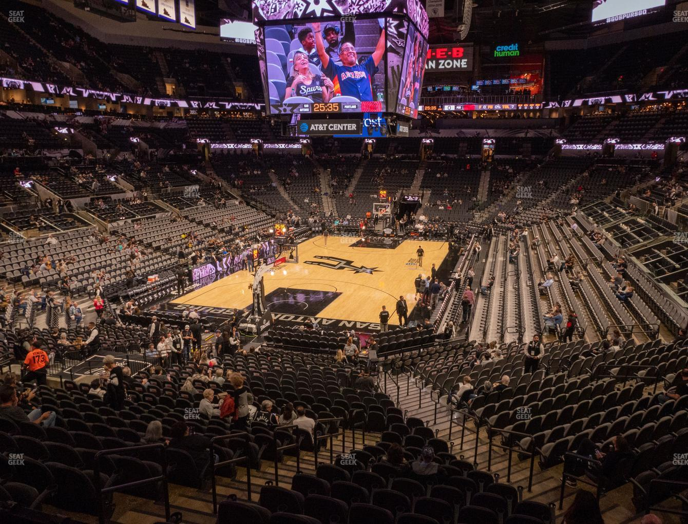 San Antonio Spurs at AT&T Center Section 126 View
