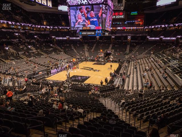 AT&T Center Section 126 view