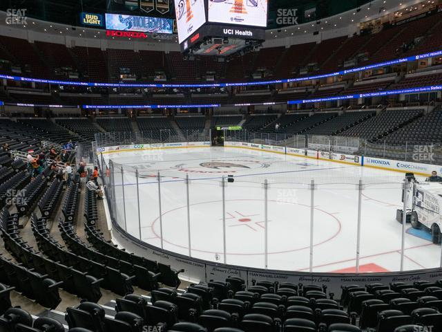 Honda Center Section 203 view