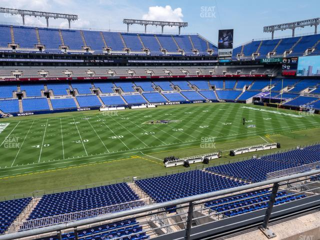 M&T Bank Stadium Section 229 view