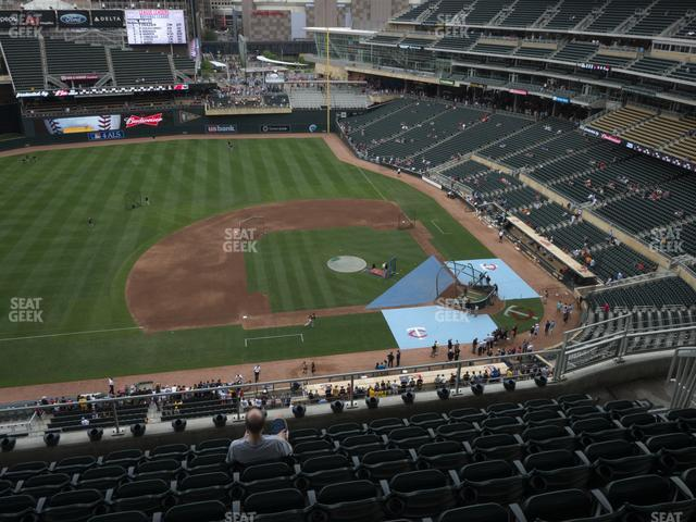 Target Field Section 321 view