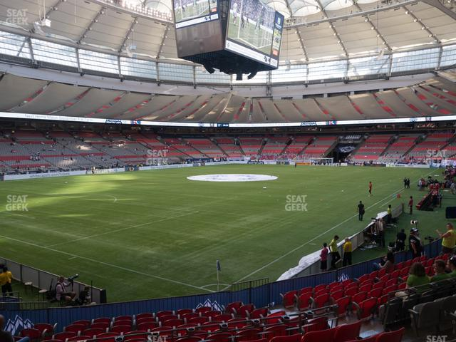 BC Place Stadium Section 222 view