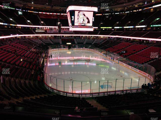 Canadian Tire Centre Section 202 view