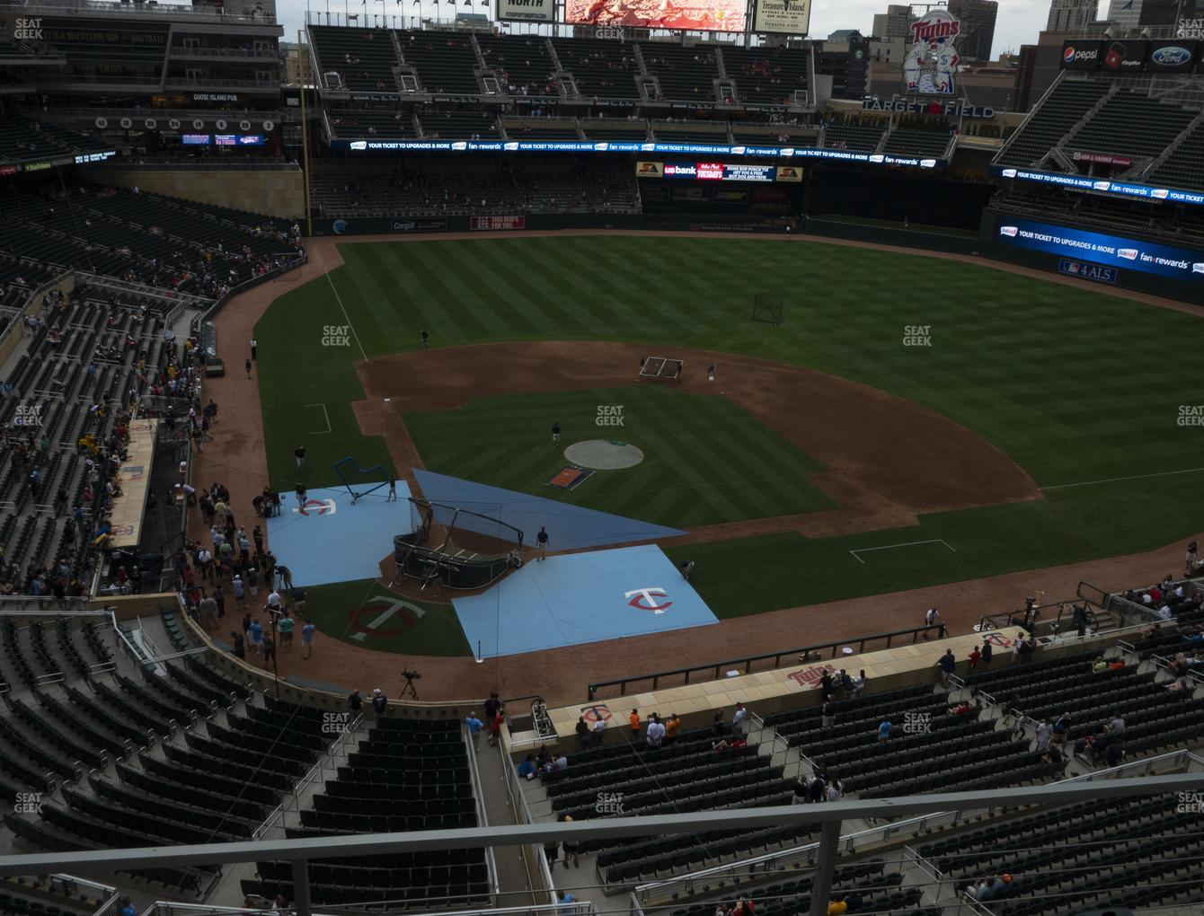 Minnesota Twins at Target Field Section 212 View