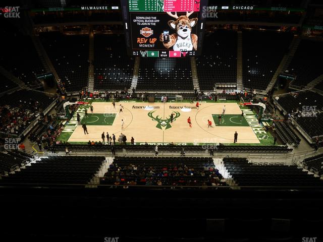 Fiserv Forum Section 208 view
