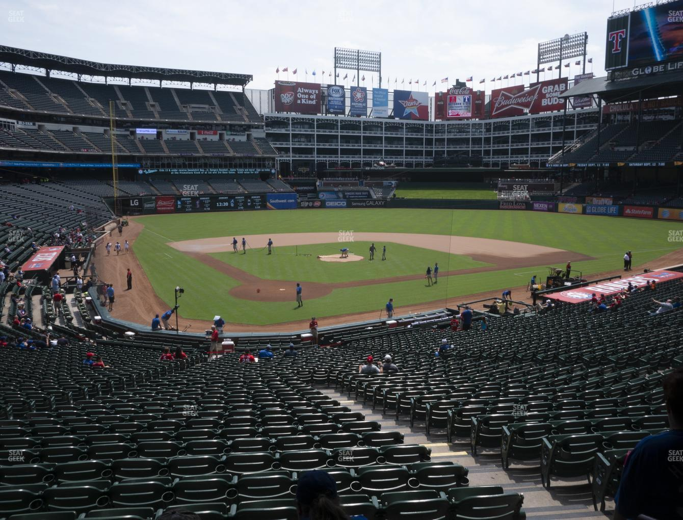 Texas Rangers at Globe Life Park Section 128 View