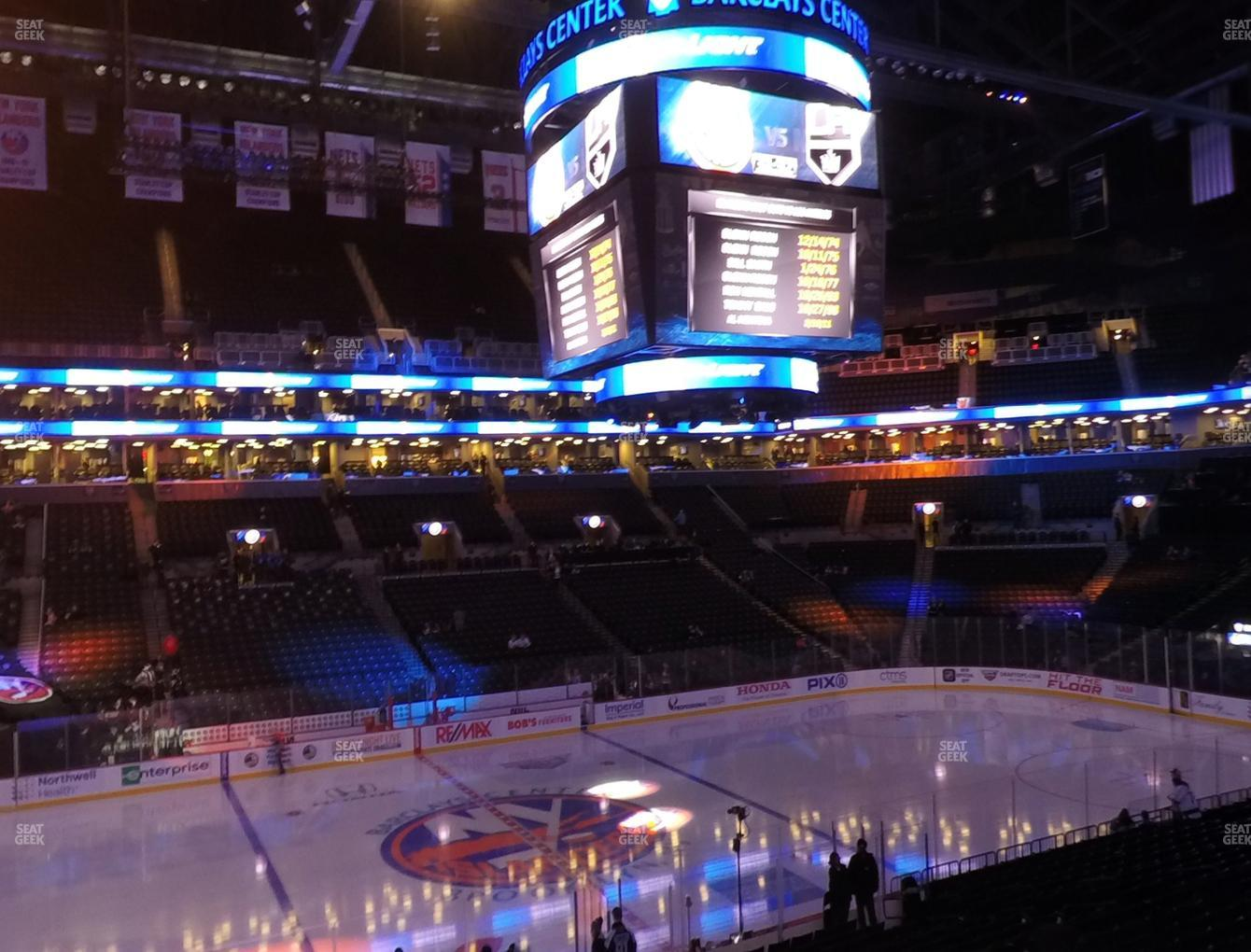 New York Islanders at Barclays Center Section 126 View