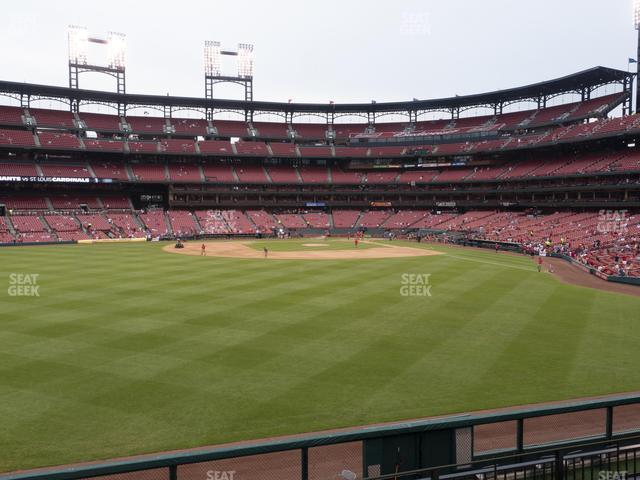Busch Stadium Lower Left Field Bleachers 191 view