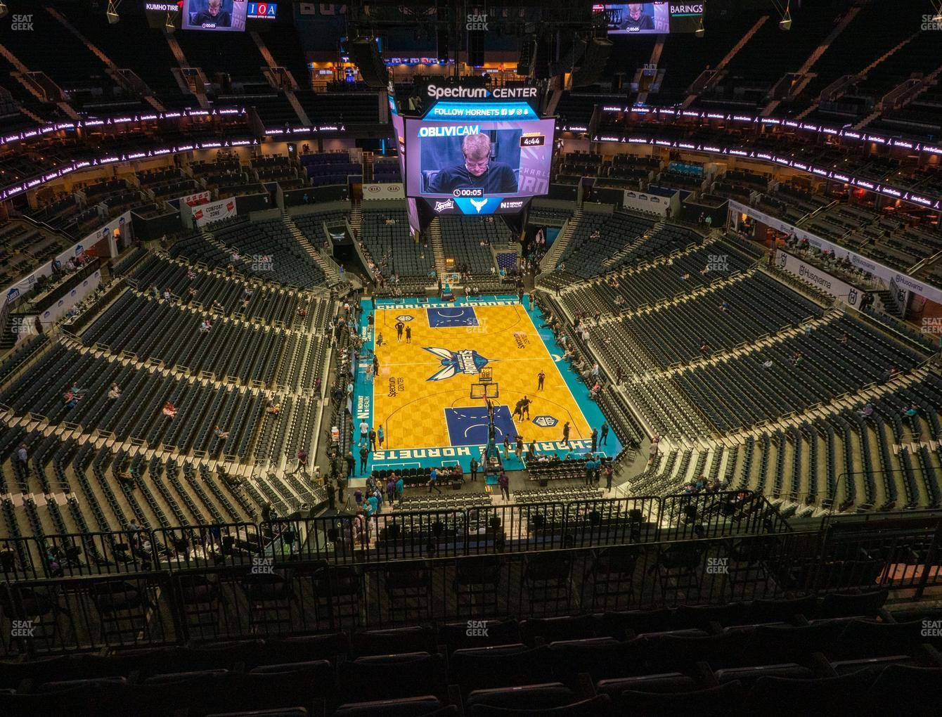 Charlotte Hornets at Spectrum Center Section 201 View