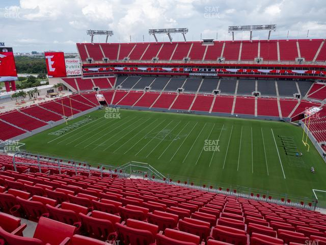 Raymond James Stadium Section 338 view