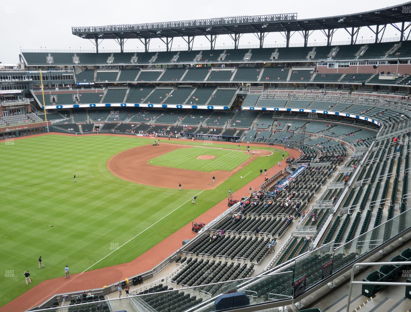 Atlanta Braves at SunTrust Park Section 342 View