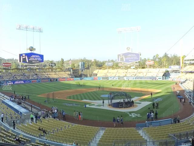 Dodger Stadium Loge Box 107 view