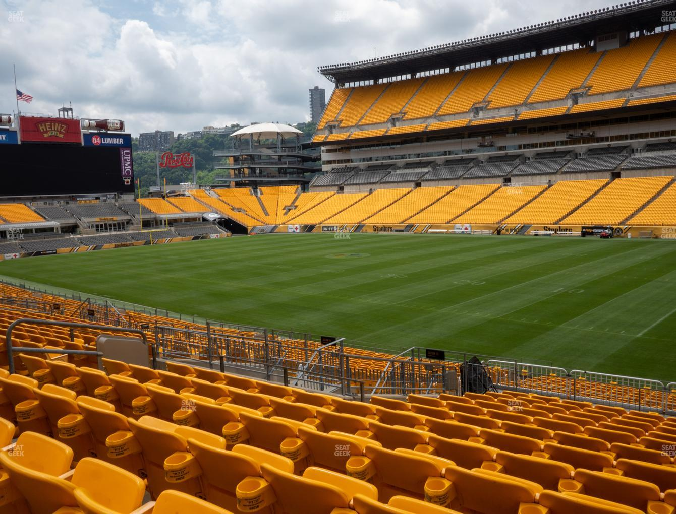 Pittsburgh Steelers at Heinz Field Section 115 View