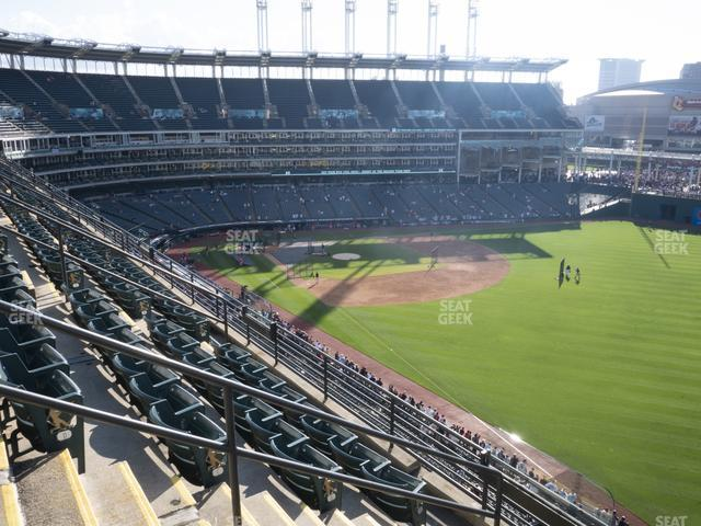 Progressive Field Section 423 view
