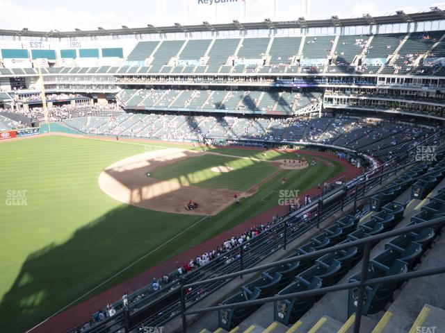Progressive Field Section 475 view