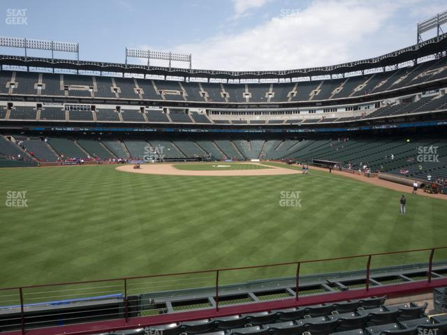 Globe Life Park Section 4 view