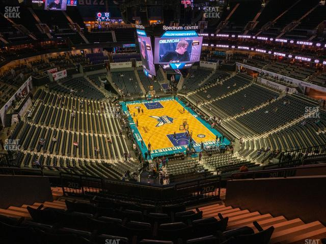 Spectrum Center Section 202 view