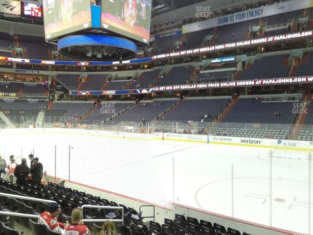 Capital One Arena Section 102 view