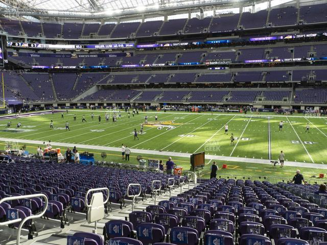 U.S. Bank Stadium Section V 1 view