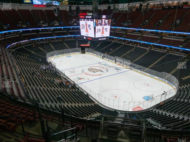 Honda Center Section 405 view