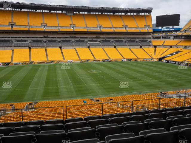 Heinz Field Section 209 view