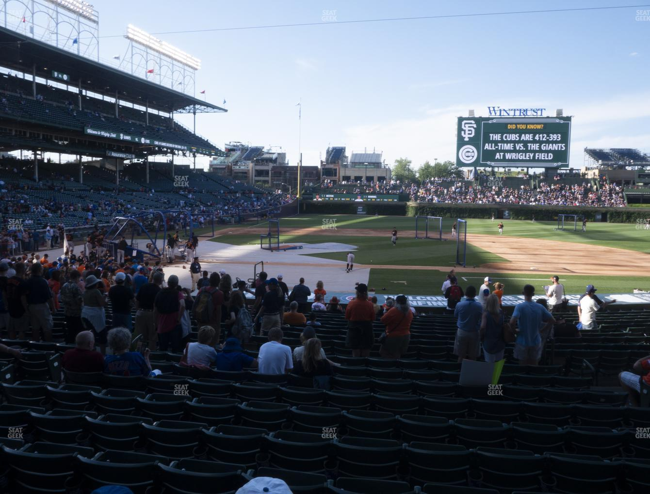 Chicago Cubs at Wrigley Field Section 123 View