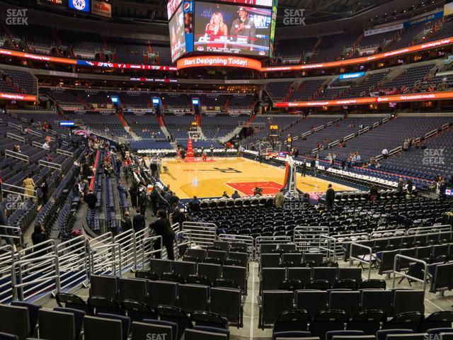 Capital One Arena Section 104 view