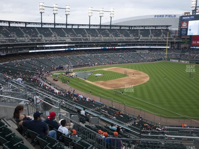 Comerica Park Section 214 view