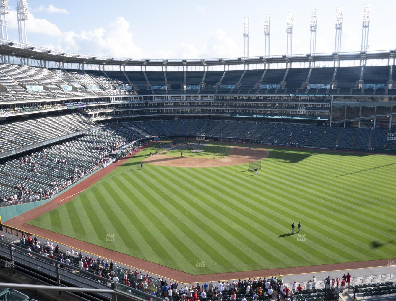 Cleveland Indians at Progressive Field Section 404 View