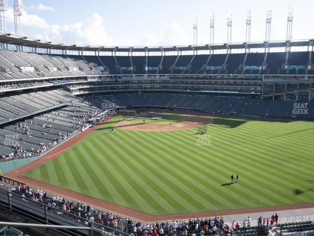 Progressive Field Section 404 view