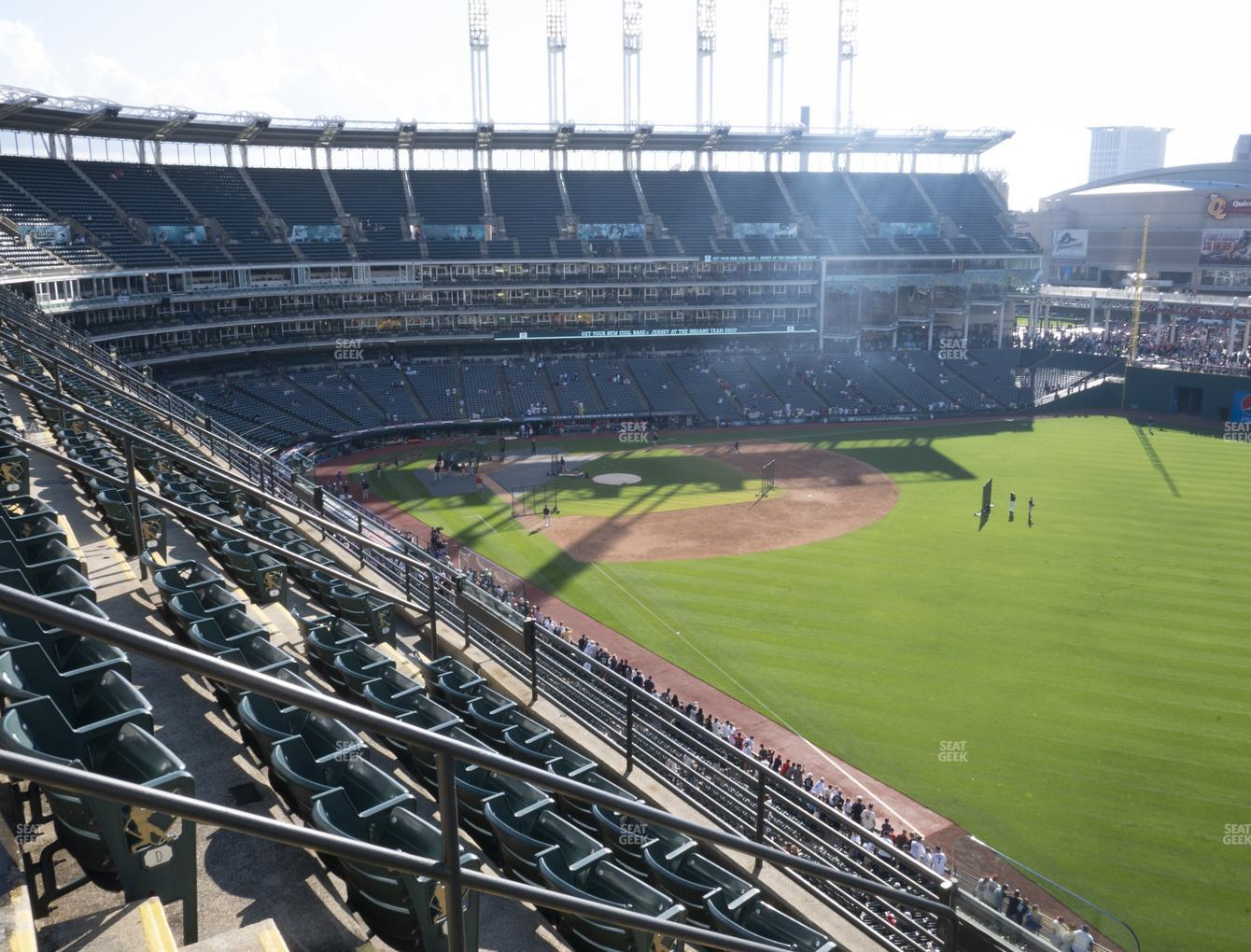 Cleveland Indians at Progressive Field Section 422 View