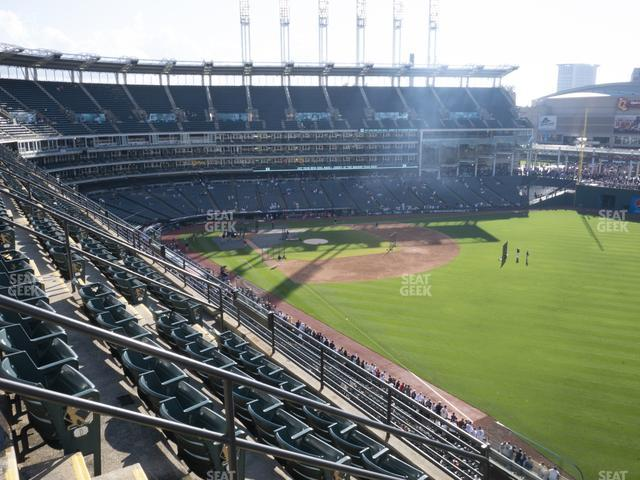 Progressive Field Section 422 view